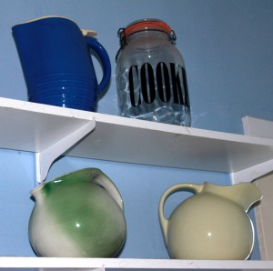 Shelf of Pitchers