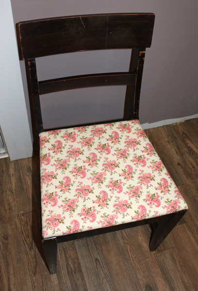Chair with new Pink Seat