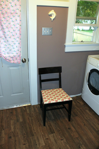 Chair in the mudroom