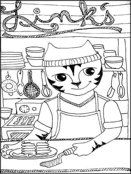 Diner cat