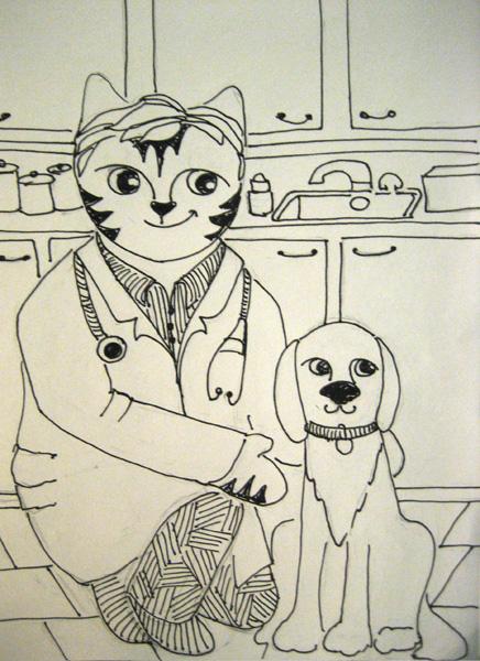 Link the veterinarian.