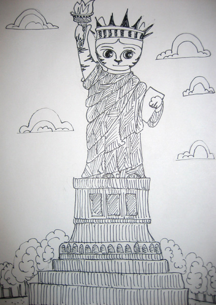 Link as the Statue of Liberty