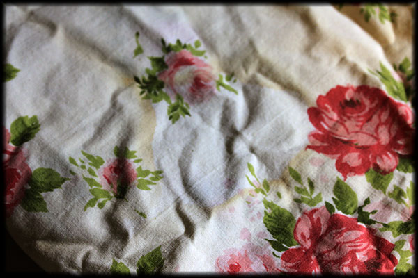 Stained pillowcases