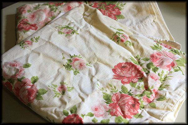 Yellowed pillowcases