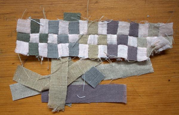Unfinished mini quilt