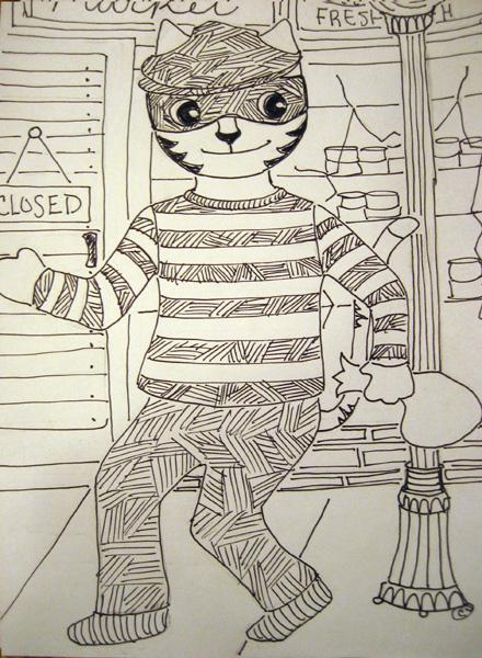 Link as a cat burglar