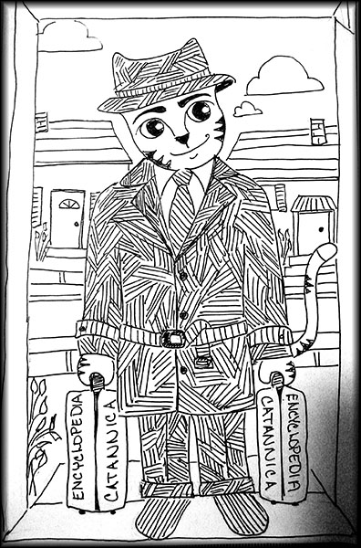 Encyclopedia salesman.