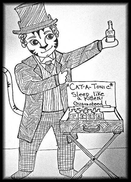 Cat-a-tonic.