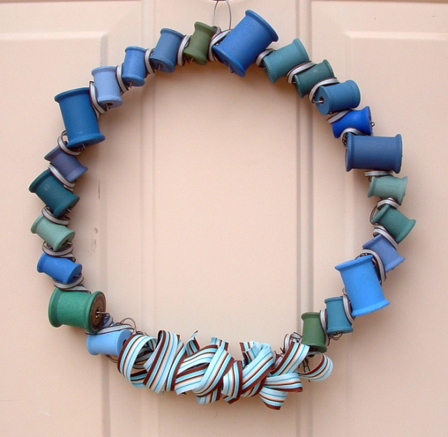 Photo of spool wreath