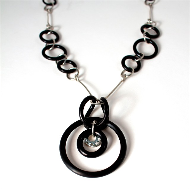 Wire and O Ring Necklace
