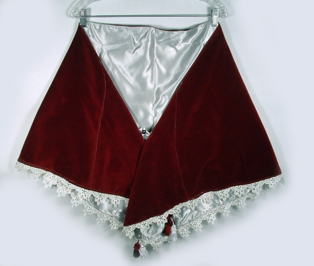 Photo of velvet and brocade cape.