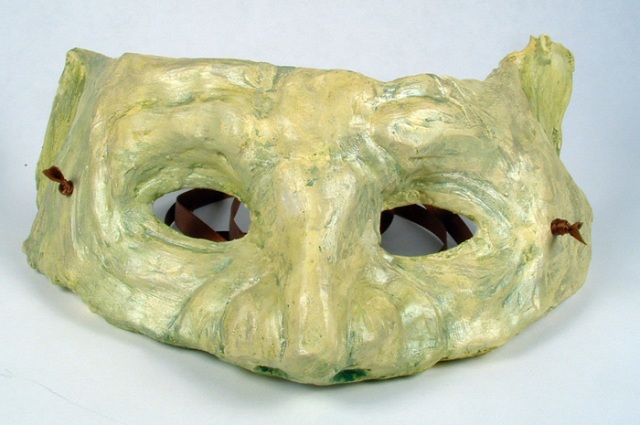 Front view of my goblin mask.