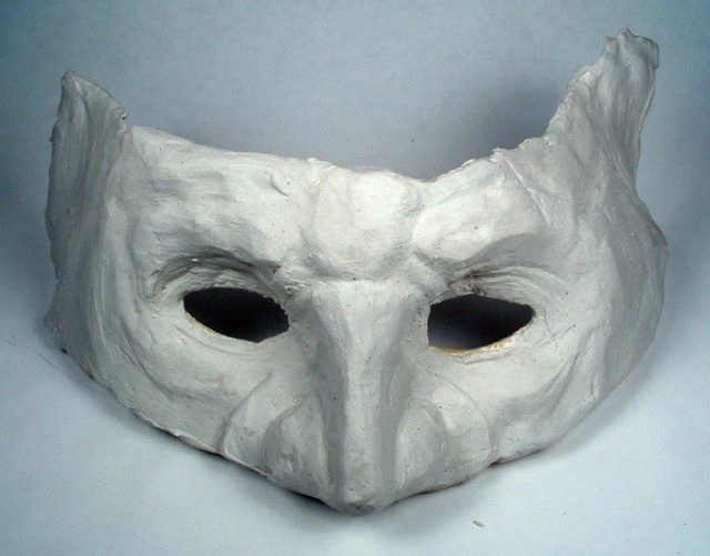 My goblin mask before painting.
