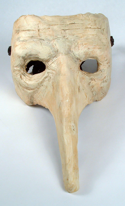 Front view of his goblin mask.