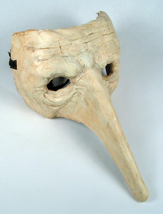 His goblin mask.