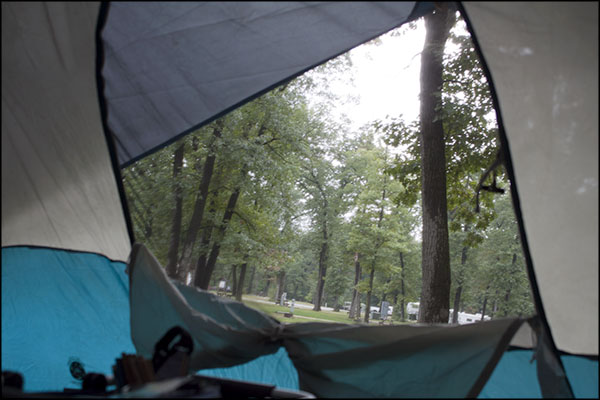 Tent and the rain