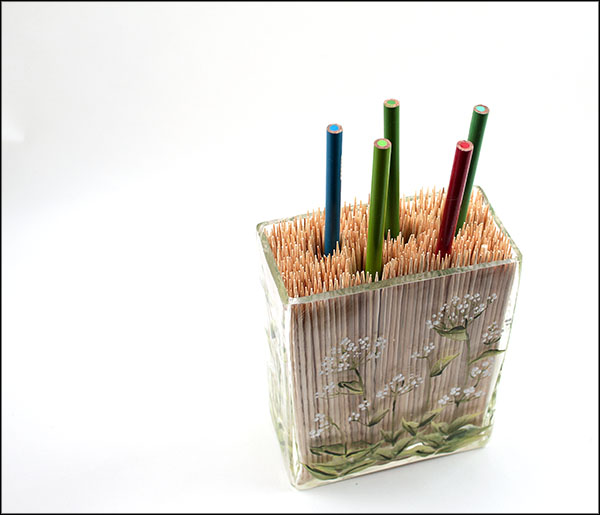 Bamboo Skewer Color Pencil Holder