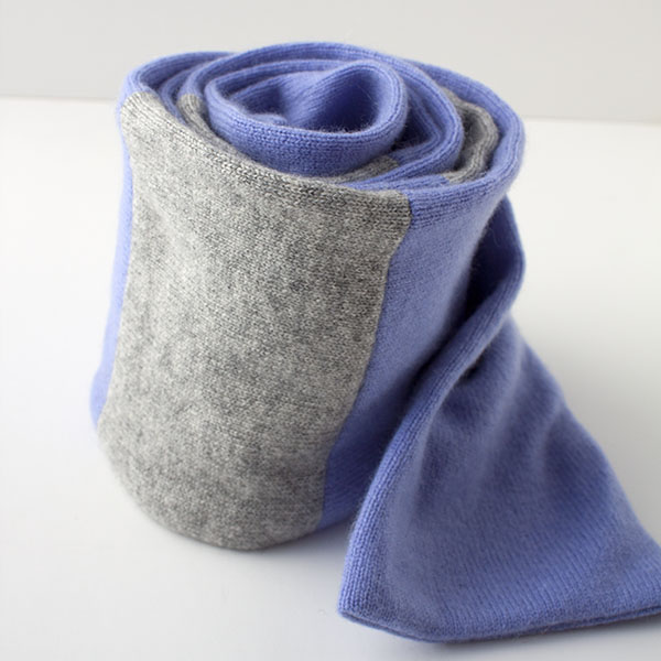 Cashmere scarf made from upcycled sweaters