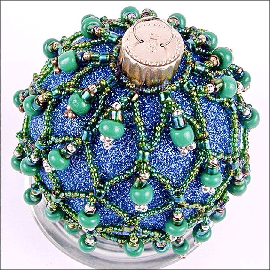 ornament countdown beaded glass the