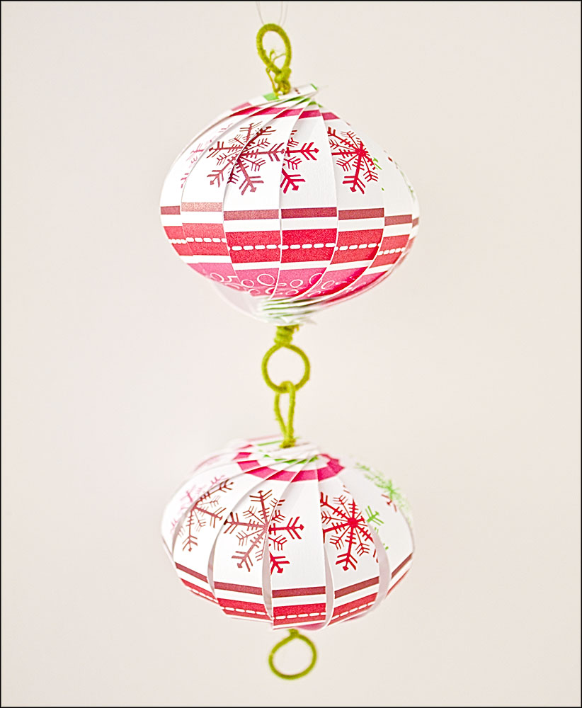 Christmas Ornament Countdown: Scrapbook Paper Balls | the ...