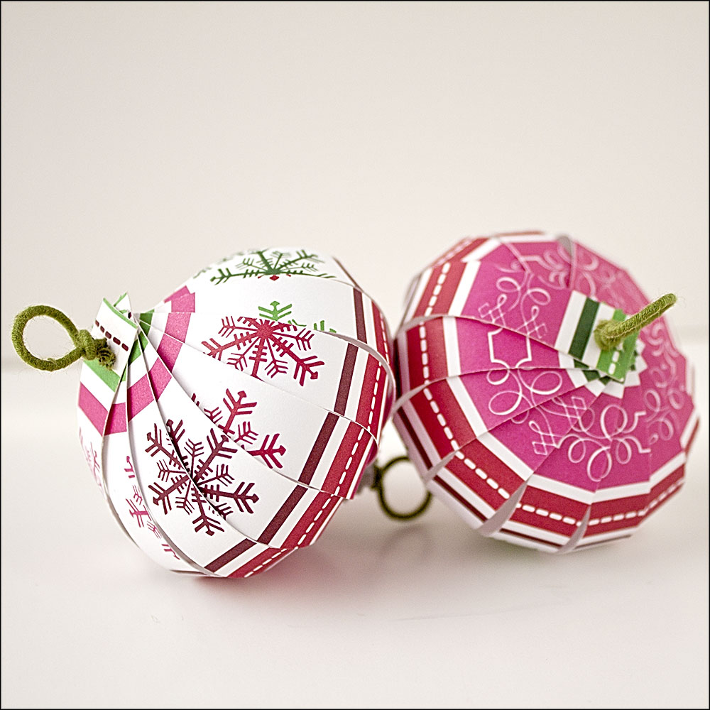 Christmas Ornament Countdown: Scrapbook Paper Balls