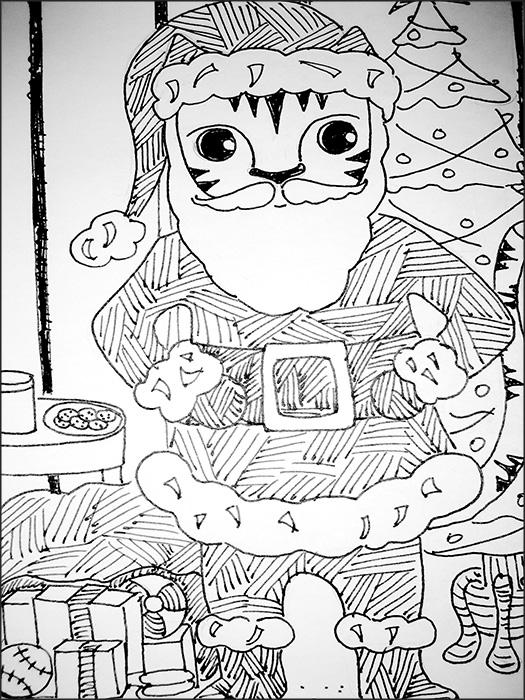 Santa Clause Link Cat