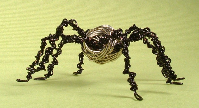 Wire wrapped spider.
