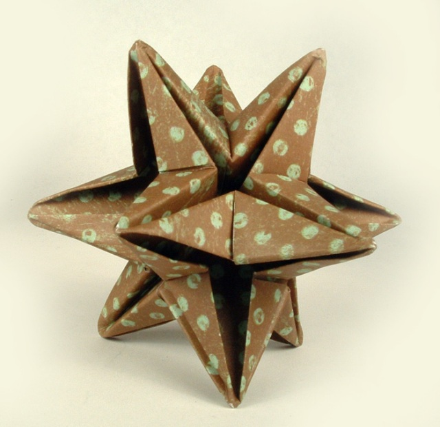 Origami 12 point paper star.