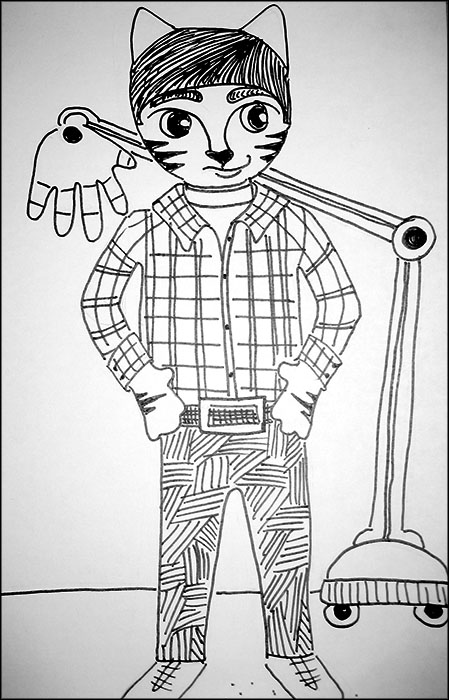 Cat Cartoon Link Big Bang Theory Howard Pencil
