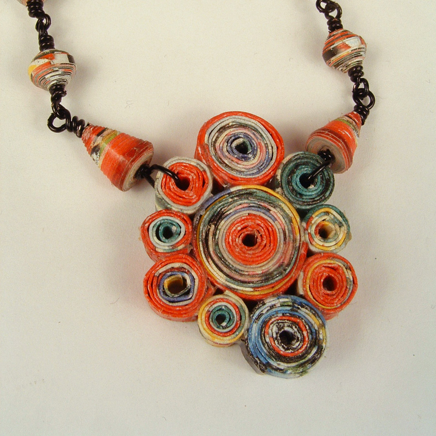 Matisse Paper Bead Necklace The Crafty Sisters