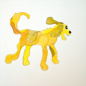 Patches Squiggle Dog Pencil Color