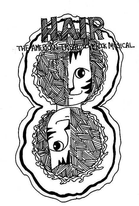 Cat Art Cartoon Link Pen Ink Drawing Rock Musical Hair