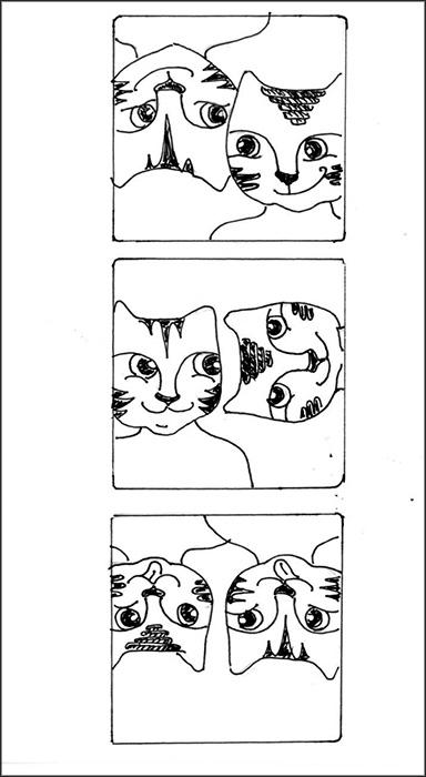 Cat Art Cartoon Link Pen Ink Drawing Photo Booth