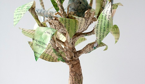 Bird Paper Mache Tree Crafty Sisters Challenge