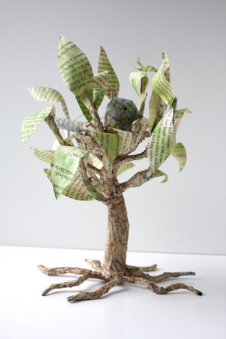Bird Paper Mache Tree Crafty Sisters Challenge