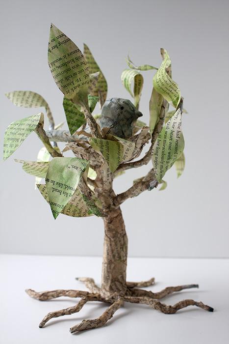 Paper Mache Bird Tree Crafty Sisters Challenge