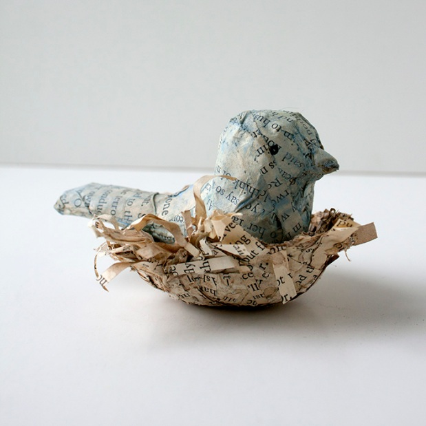 Paper Mache Bird Nest Crafty Sisters Challenge