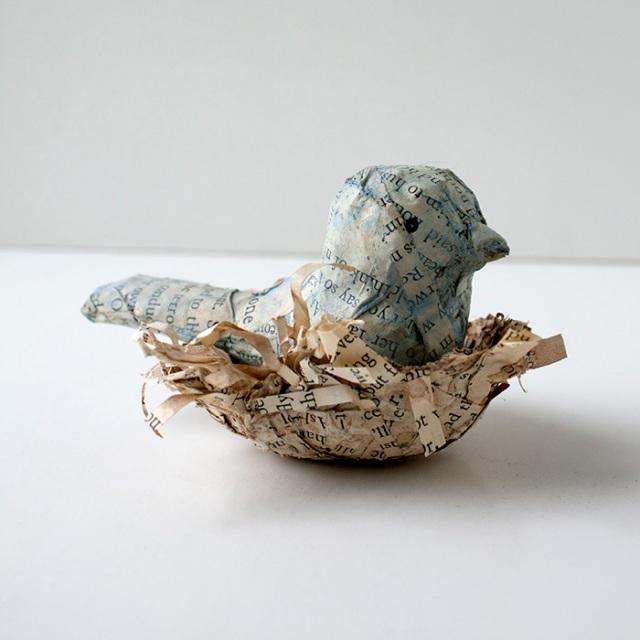 Paper Mache Bird Nest Crafty Sisters Challenge