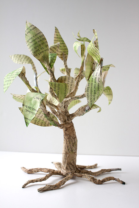 Paper Mache Tree Crafty Sisters Challenge
