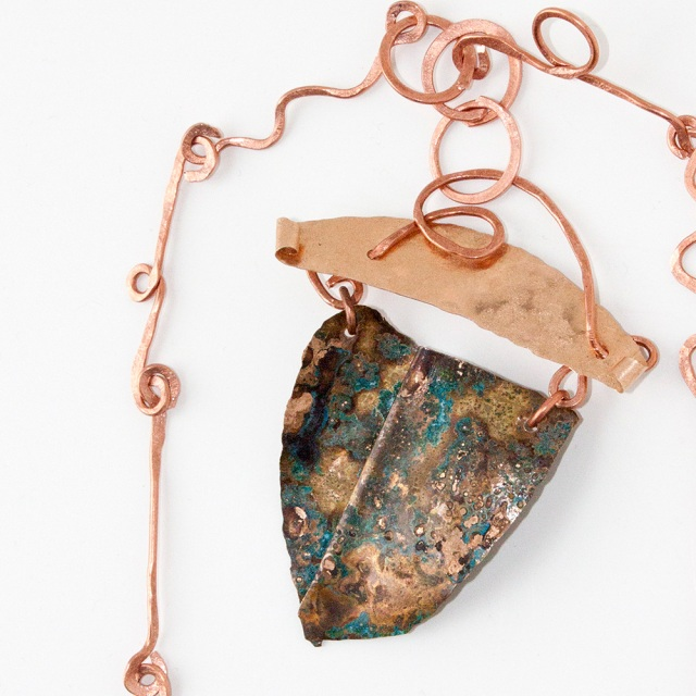Hammered Copper Pendant Necklace Crafty Sisters