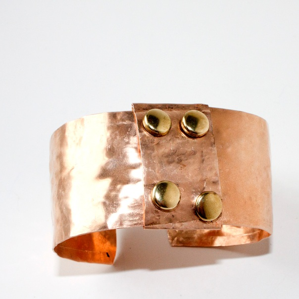 Copper Bracelet Hammered Crafty Sisters