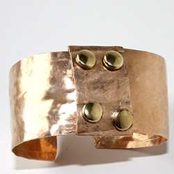 Hammered Copper Cuff Bracelet Crafty Sisters