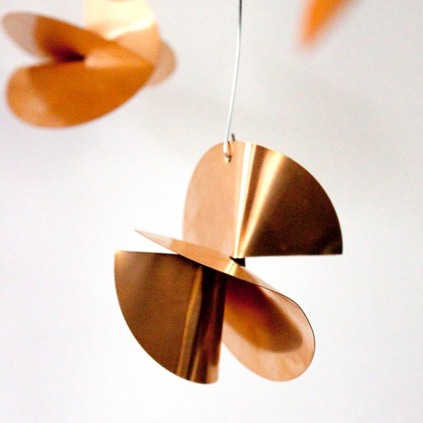 Copper mobile close up