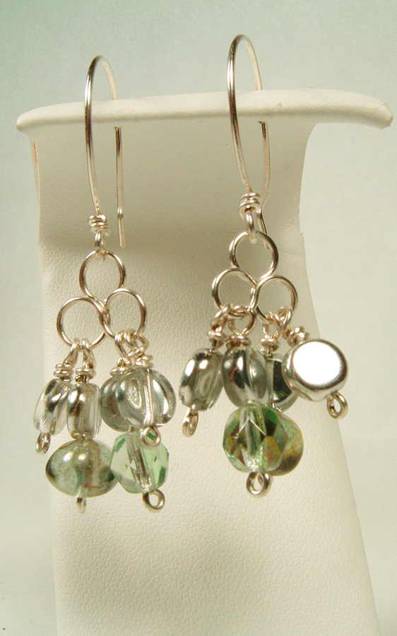 Earrings that match the tourmaline necklace.
