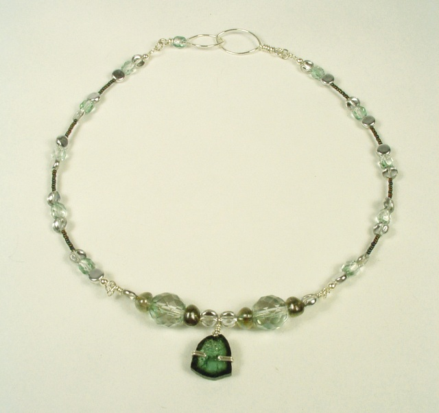 Tourmaline necklace.