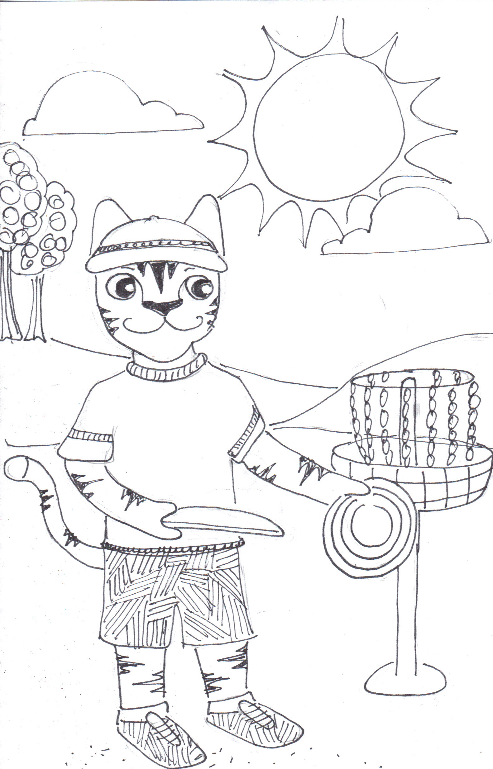 Uncategorized Golf Coloring Page disc golf coloring pages murderthestout what a cat the crafty sisters