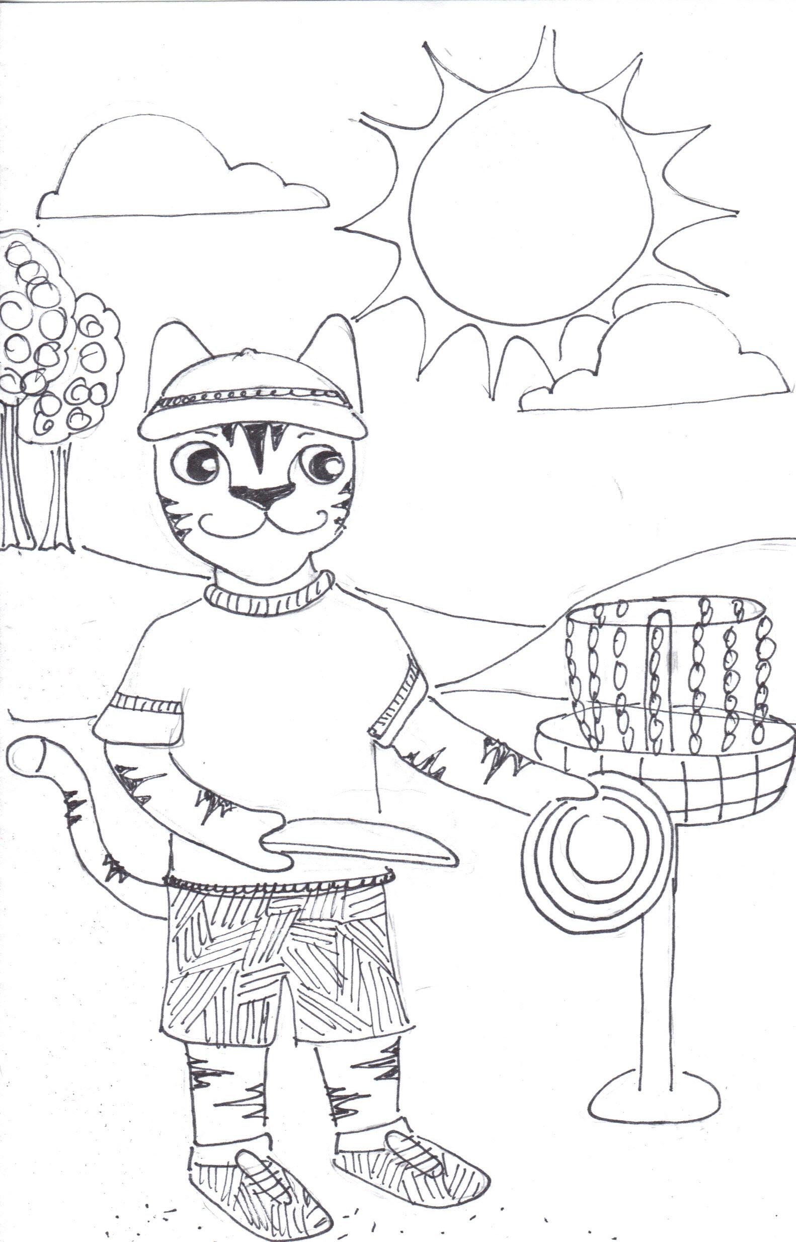 Disc golf cartoon images