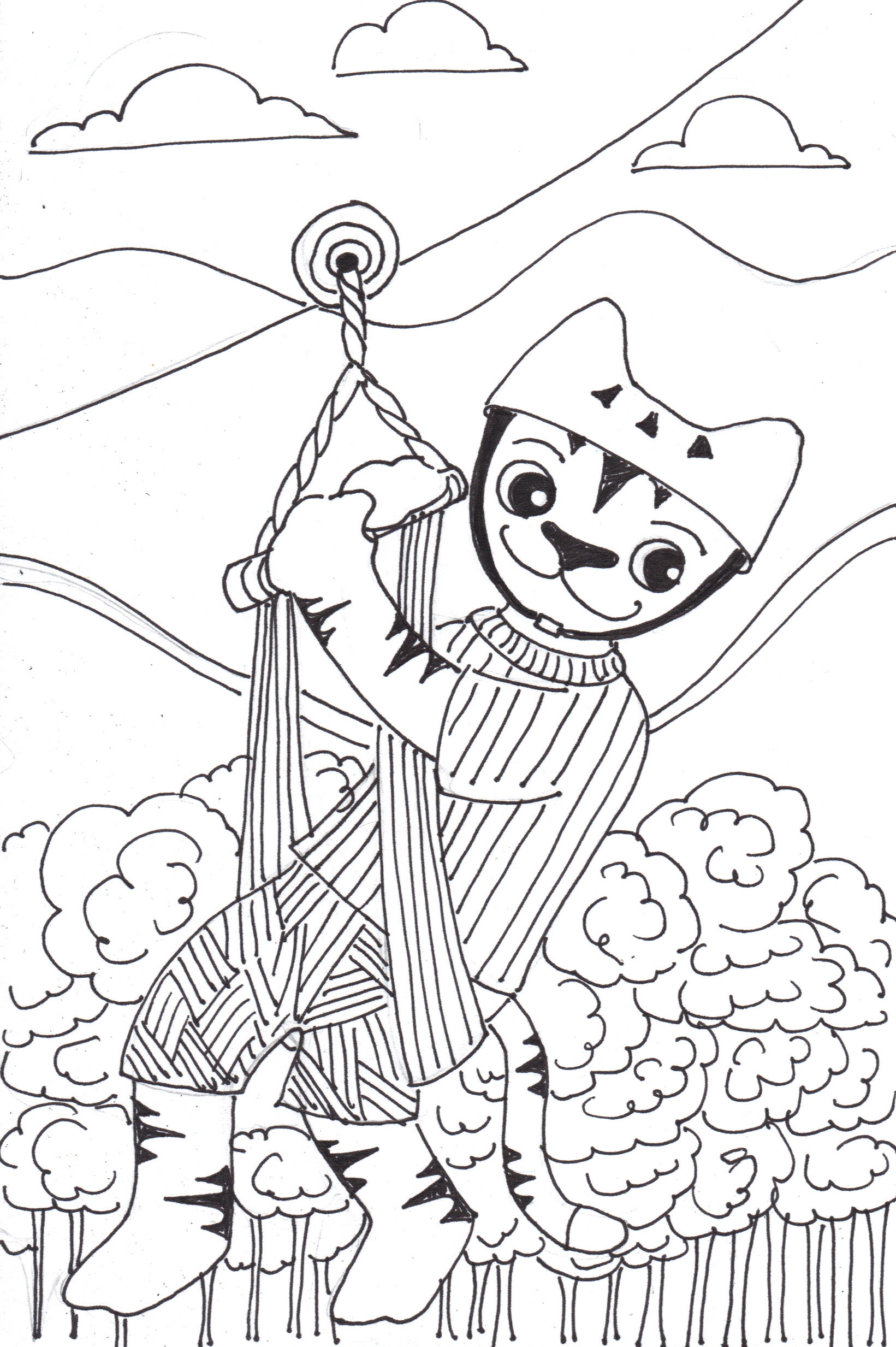 Zipper Line Art : The crafty sisters craft writing drawing page