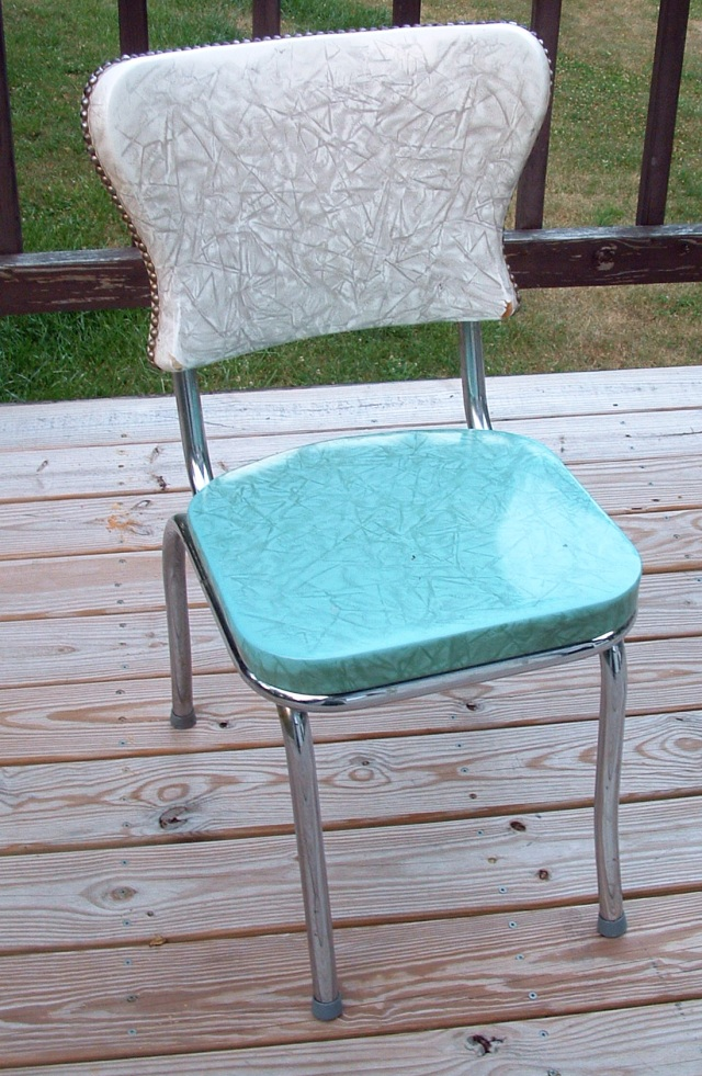Original chair before re-upholstery