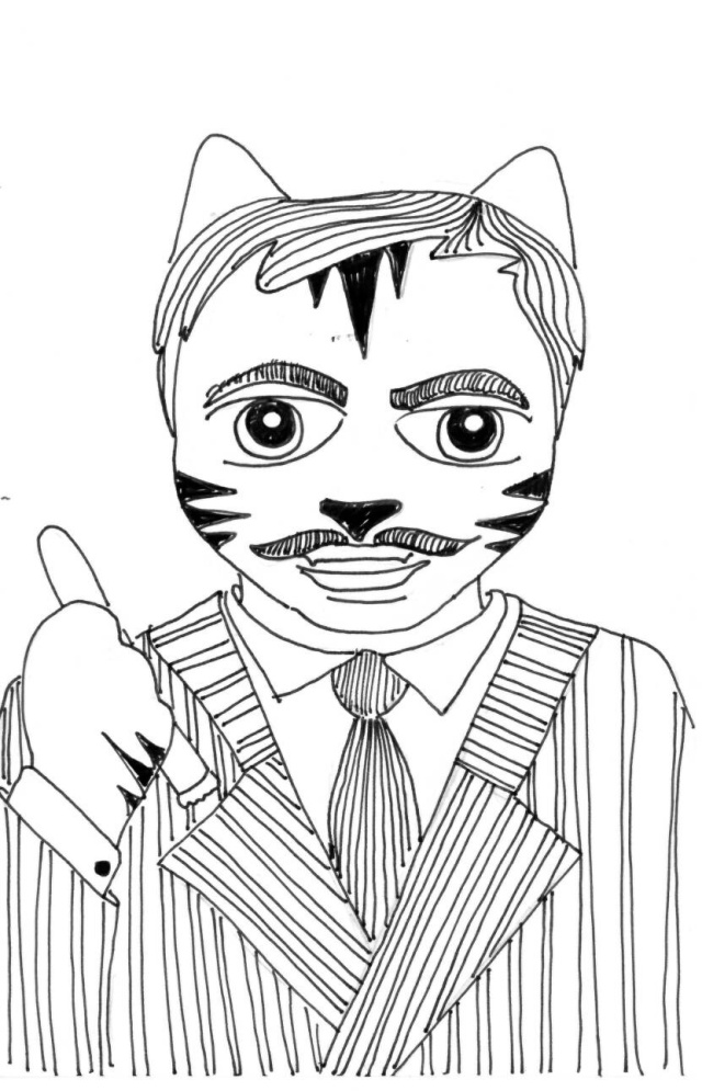Gomez Addams The Addams Family Link the Cat